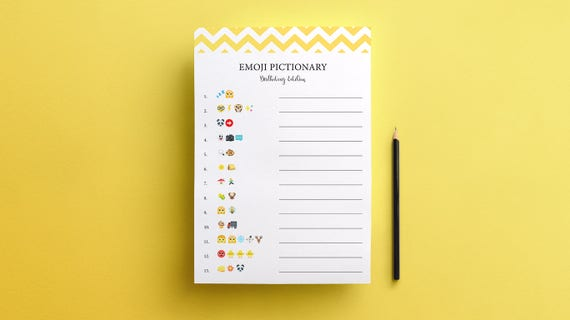 EMOJI PICTIONARY Childrens Birthday Party Game With