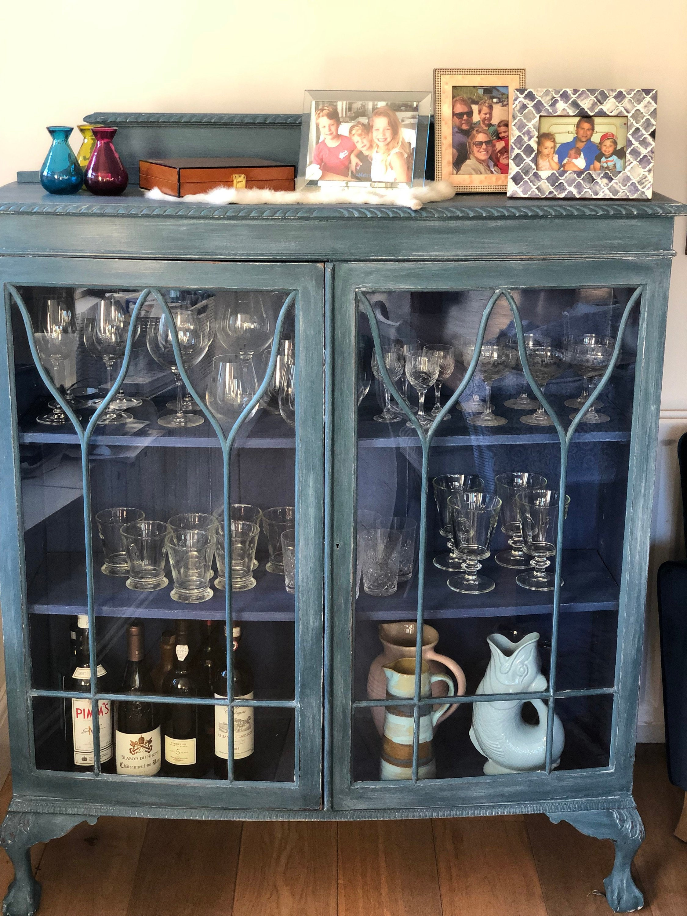 interesting shabby chic kitchen cabinet   Unique Shabby Chic Glass Display / Drinks Cabinet hand ...