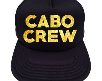694d37ec675 Cabo Crew Glitter Trucker Hat Cap in Glitter - Other Colors to choose from