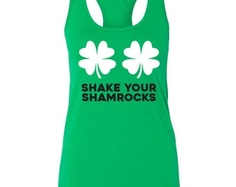 Shake your Shamrocks Tank top for Saint Patrick's Day