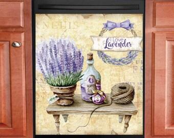 Beautiful Lavender Vintage Design #10 Country Decor Kitchen Dishwasher Magnet