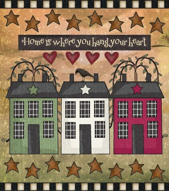Country Primitive Decor Kitchen Dishwasher Magnet Cream Barn Star Welcome Magnets Collectibles