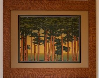 Lands End Mission Style Art in Quartersawn Oak Frame