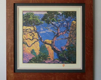 Pinon Grand Canyon Mission Style Framed Art in Quartersawn Oak