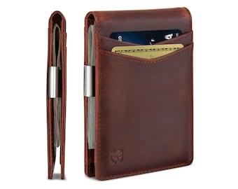 Men/'s RFID Blocking Slim Wallet Money Clip Credit Card ID Holder Leather Purse