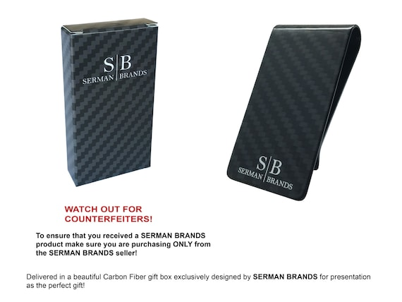 Carbon Fiber Money Clip Fits Up To 15 Cards Strong and Lightweight Genuine 3K Weave