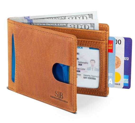 Handgemachte Rfid Blocking Pu Leder Dünne Pull Out Wallet
