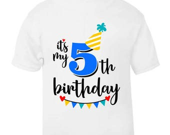 Its My 5th Fifth Five Birthday T Shirt