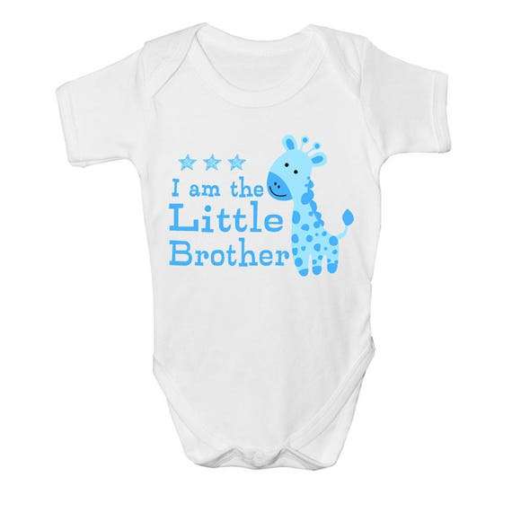 I/'m The Little Brother Funny Boys Girls Babygrow Gift 0-18 Months