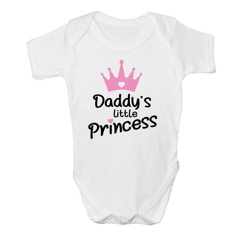 Nannys Little Princess Pink Soft Cotton Bodysuit New Baby Grandaughter Present