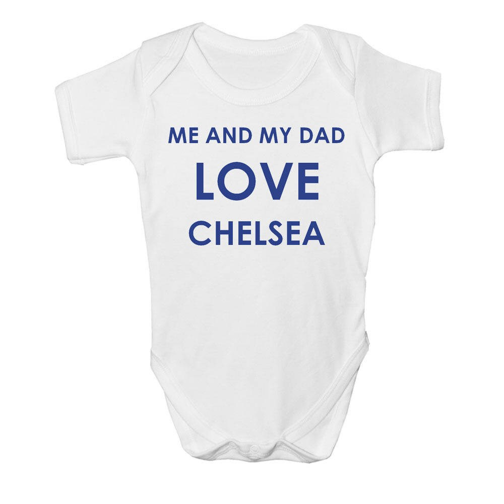 CHELSEA BABY TEAM FOOTBALL FAN BABYGROW BABY GROW ALL SIZES  NEW