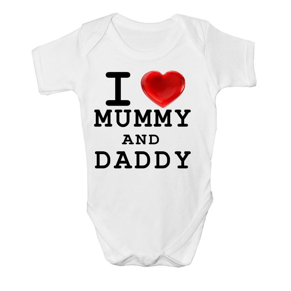 Personnalisé I Love My Mummy tellement Baby Grow Babygrow Body Vest Maman Cadeau
