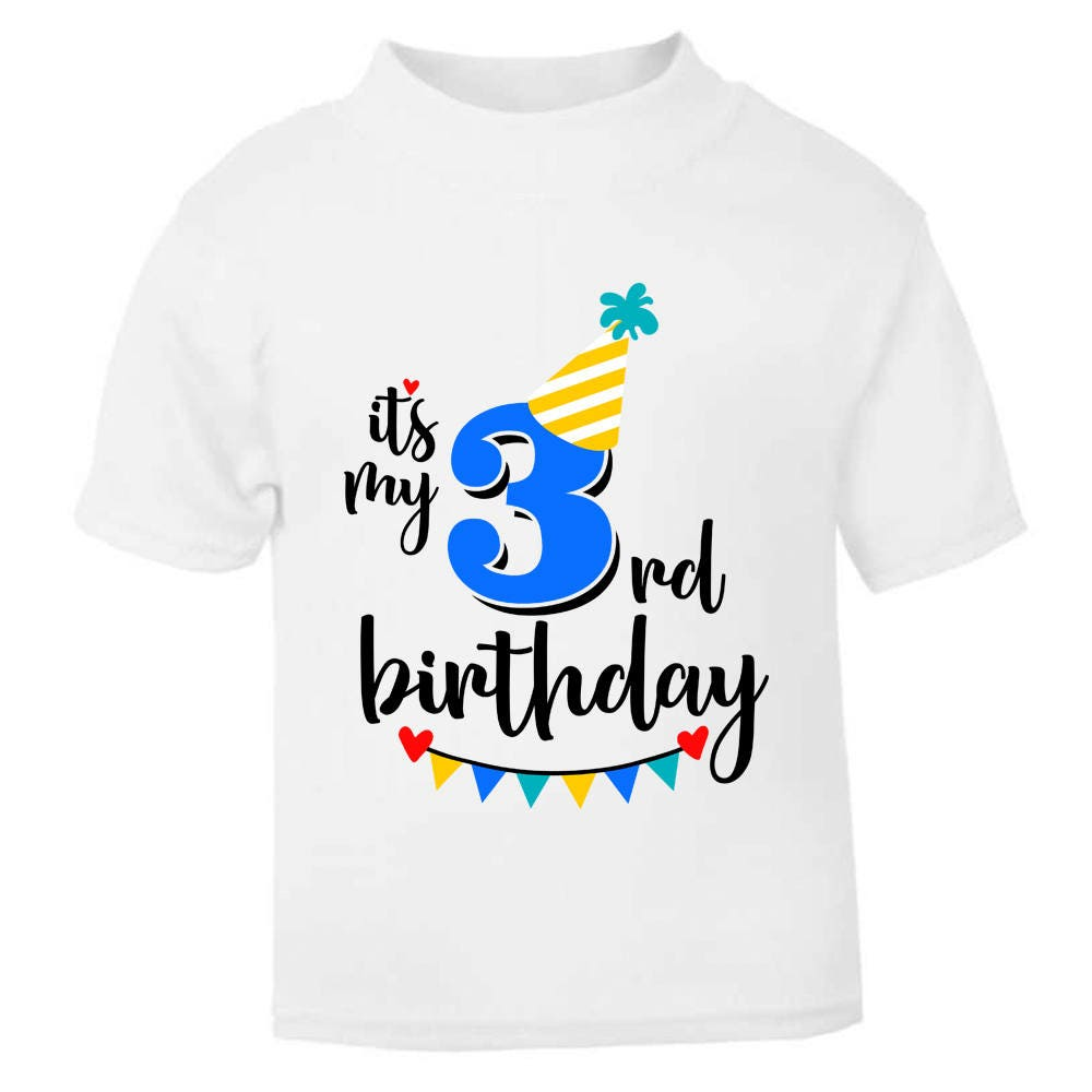 It/'s My 4th Fourth Birthday T-Shirt Childrens Kids T Shirt Boys Cake Smash NEW