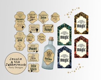 photograph about Harry Potter Apothecary Labels Free Printable identified as Potion labels Etsy