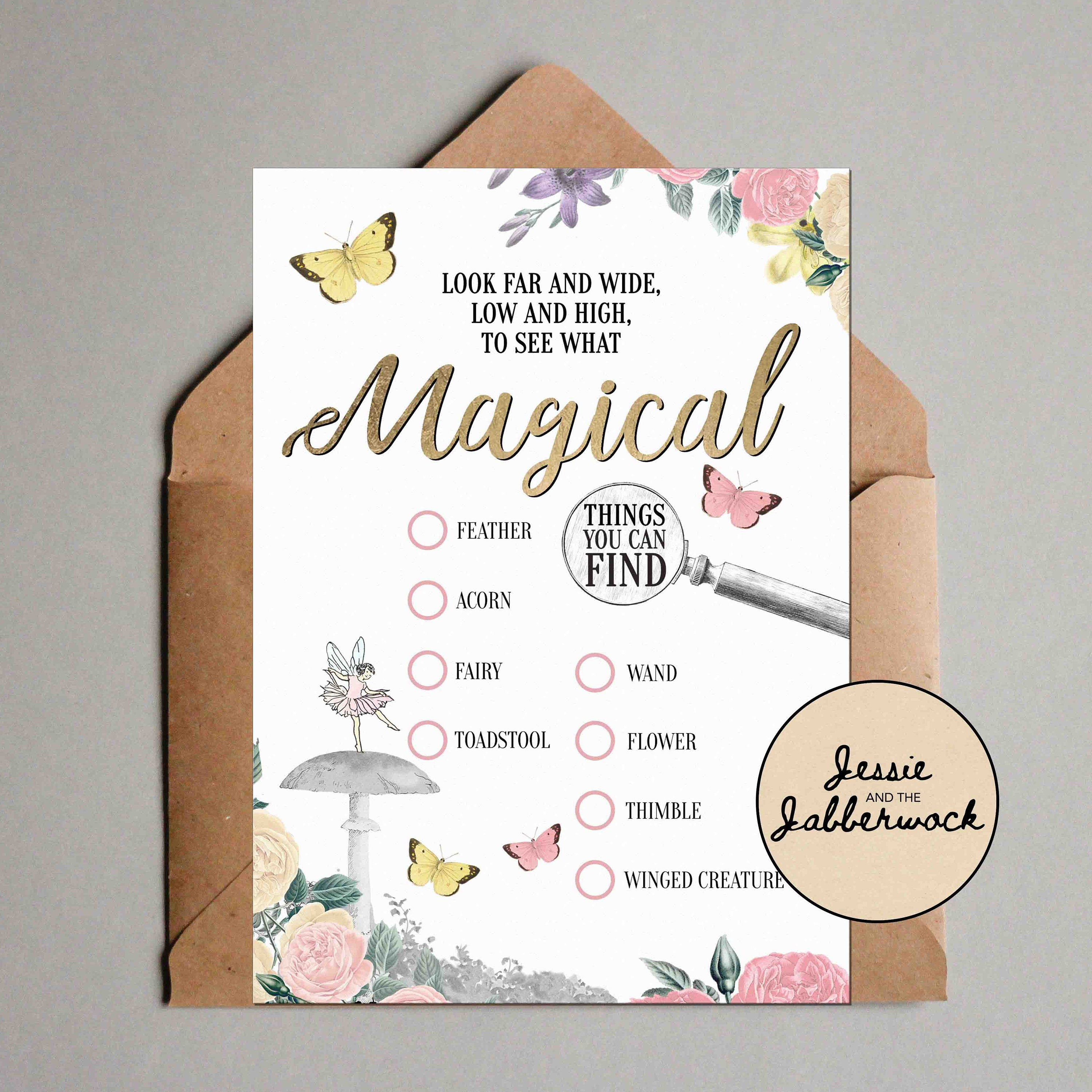 Fairy Scavenger Hunt Printable Instant Download Nature Trail Etsy
