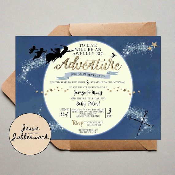 Baby predictions Instant download Neverland Baby Shower Set bunting Peter Pan Signs food label tents water bottle labels Book Request