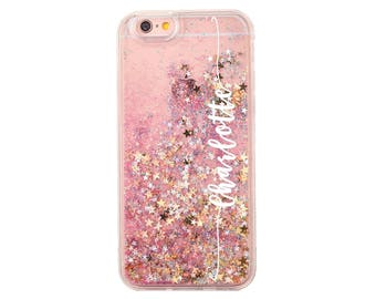 Personalized Liquid Glitter.Name Glitter Case. iPhone 7 case.iPhone 7 Plus  case.iPhone 6s case.iPhone 6s Plus case.iPhone SE.iPhone 8+.8 5s bdf989217