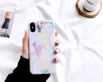 Marble case.iPhone 8 Plus case.iPhone 8+ case.Marble iPhone 8 Plus case.Soft iPhone 8 Plus case.Marble iPhone 7+ case.iPhone case.White case
