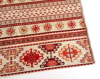 Jaquard Fabric Red Navajo Model