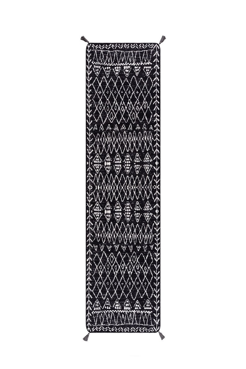 Cotton Woven Long Double Side Ethnic Floor Kilim Navajo Aztec Moroccan Tribal Scandinavian Geometric Natural Rug