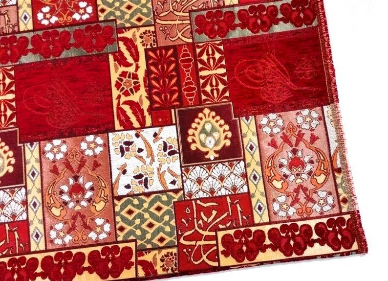Chenille Upholstery Fabric Patchwork Design Fabric image 0