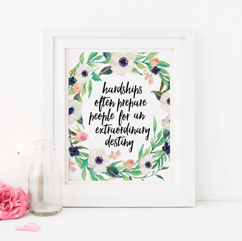 C S Lewis Quote Print Hardships Often Prepare People For An Etsy
