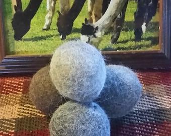 Set of 6 -Alpaca Dryer Balls-handmade in USA-Dryer Sheet replacement-Energy Saver -100% Natural-Fiber- wool-hypoallergenic-cloth diaper