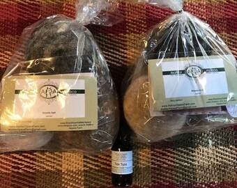 Dryer Balls/Oil Set- 6 Alpaca Dryer Balls PLUS 1/2 oz fragrance Oil Set, dryer sheet replacement, all natural-cloth diapers