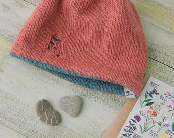 double-sided warm hat made of 100% wool