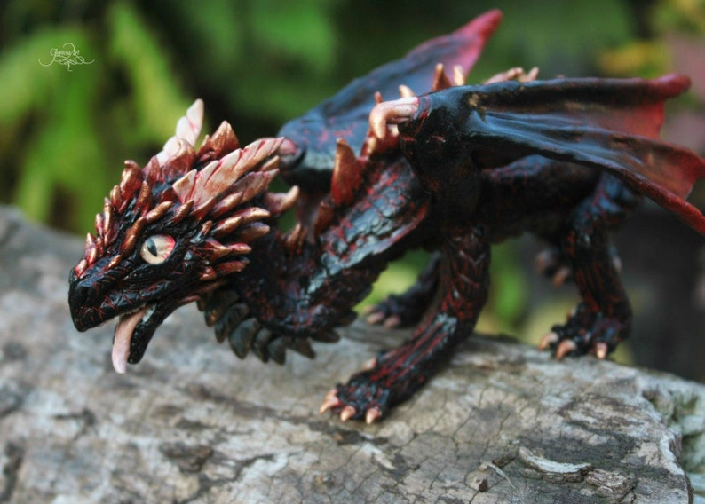 Drogon dragon sculpture - dragon figurine, Game of Thrones, targaryen  dragon, dragon figure, fantasy art, ooak forest dragon, got cosplay