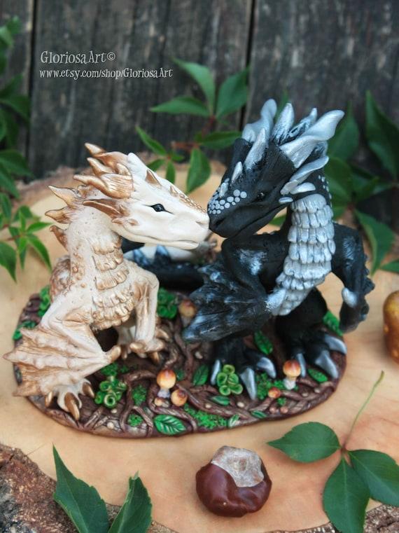 Dragon Wedding Cake Topper Fantasy Wedding Cake Topper Etsy