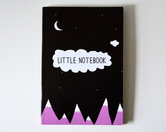 Mountain Notebook - A6 Lined notebook - little notebook - mountains - Illustrated notebook - A6 notebook - sketchpad - Stationery - listpad