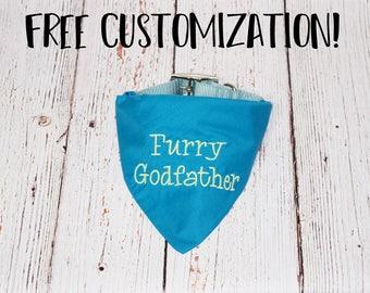 Pregnancy Announcement - Baby Announcement - Pregnancy Reveal -Custom Dog Bandana - Baby Reveal -Big Brother Dog Bandana -Furry Godfather