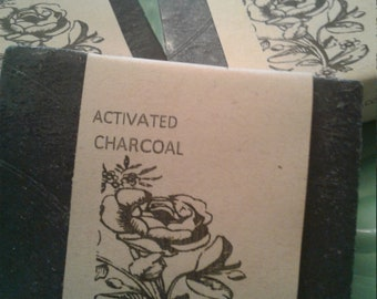 Activated Charcoal, Unscented, all Natural soap, Organic 85%.