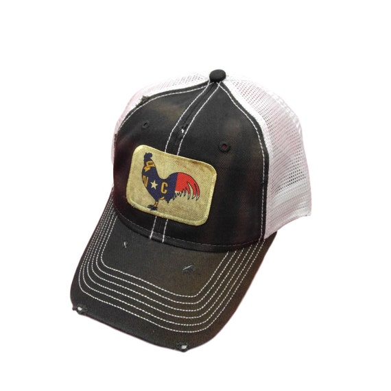 The COOK Rooster Animal Farm Trucker Embroidered Mesh Brown Tan Snapback Hat Cap