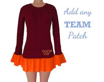 Maroon + Orange Tunic Sweater