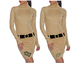 Gold + Black Sweater Dress - UCF Knights, Purdue