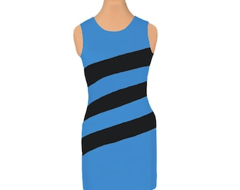 Panthers, Magic, Mavericks Diagonal Stripe Dress