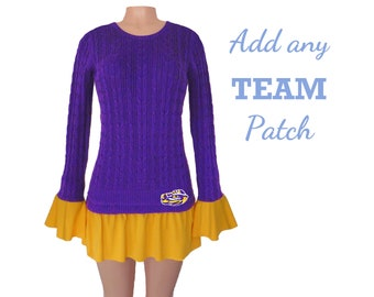 Purple and Bright Gold Tunic Sweater