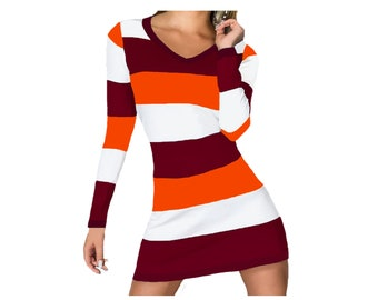 Virginia Tech Hokies Stripe Game Day Dress