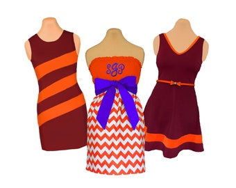 Orange + Purple/Maroon