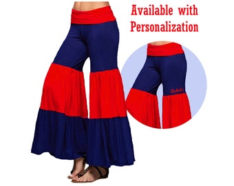 Red + Navy Game Day Palazzo Pants