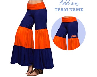 Navy and Orange Game Day Palazzo Pants