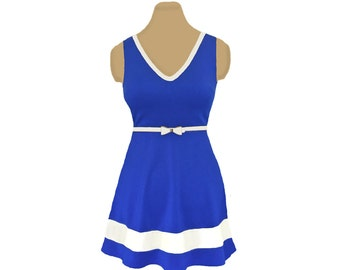 Blue + White Skater Dress