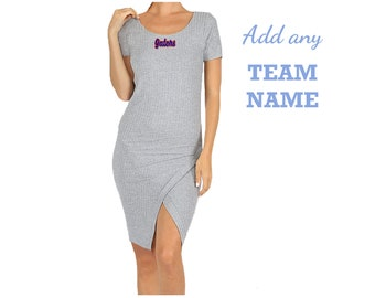 Asymmetrical Gray Game Day Dress