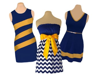 Blue/Navy + Gold/Yellow