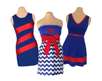 Blue/Navy + Red