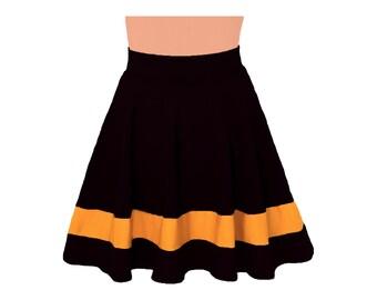 Black + Yellow Cheerleader Style Skirt
