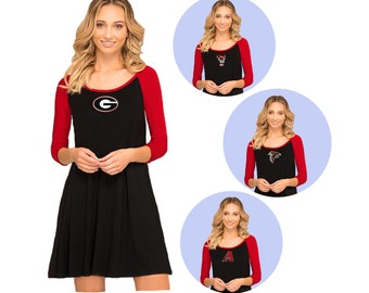 Black + Red Game Day Dress- Georgia Bulldogs, NC State, Atlanta Falcons, Arizona Diamondbacks
