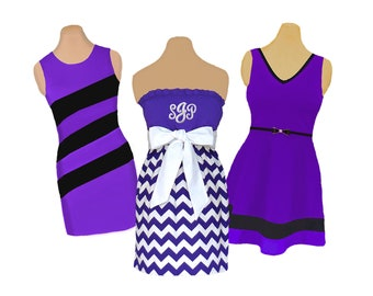 Purple + White/Black